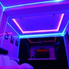 bedroom light grey walls led room