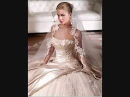 champagne wedding dress and bridesmaids youtube