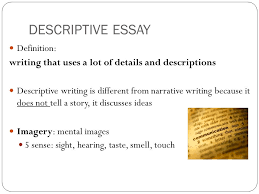 an example of a descriptive essay co an