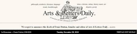 Arts & Letters Daily black