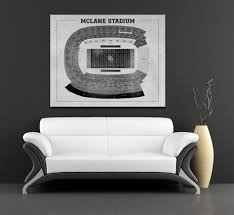 Vintage Style Print Of Baylors Mclane Stadium Seating Chart