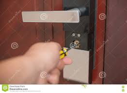 Trying to open a door lock stock image. Image of open - 72371977