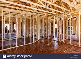framing an interior wall. Interior Wall Framing, Construction Of A Craftsman Style Residential Home In Colorado, USA Framing An N