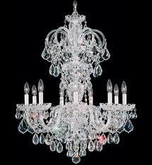 schonbek 6812 40a olde world 9 light silver spectra crystal chandelier undefined