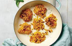 corn and pumpkin fritters with herby