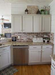 Removing Tile Backsplash Fascinating Easy DIY Brick Backsplash Maebells