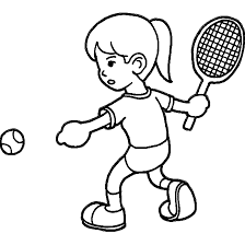 Playing Tennis Coloring Pages | Wecoloringpage