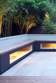 Small Picture contemporary garden bench lit up Garden design Pinterest