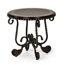 rosemont cherry scrolled base end table