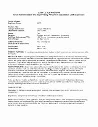 Job Posting Template Letter Interest Resume Inspirational Internal Job Posting Fresh