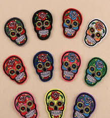iron on patches diy embroidered patch sticker for clothing clothes fabric badges sewing creative skull design sewing iron on patch patch with