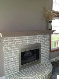 grey brick fireplace contemporary painting a red brick fireplace le whitewashed grey brick fireplace