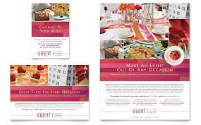 Catering Event Planning Flyer Templates Word Publisher