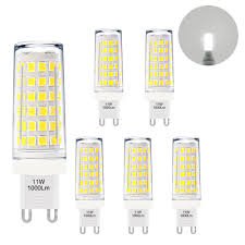 G9 Led Lights The Brightest G9 Gu9 Led Small Corn Capsule Light Bulbs 11w 1000lm Cool White 6000k Omnidirectional Lighting Much Brighter Than 60w G9 Halogen Light