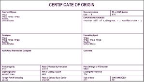 8 Certificate Of Origin Template Pdf Handyman Resume