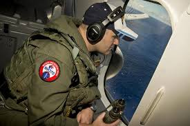 Naval Aircrewman Searches Out The Window Of A P 8a Poseidon Photographic Print By Art Com
