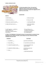 problem solution essay worksheet esl printable worksheets  problem solution essay