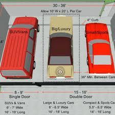 standard garage door dimensions for standard two car garage door size
