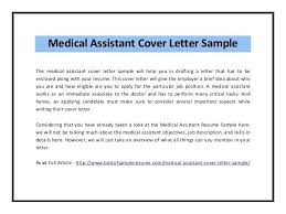 Resume Cover Letter For Medical Assistant Position Samples With No