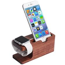 szysgsd bamboo holder for iphone desk stand for apple watch dock charging station cradle for iphone