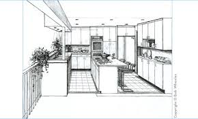 kitchen drawing perspective. Brilliant Kitchen Kitchen Perspective Drawing Inside R