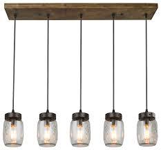 pendant lighting pictures. 5-Light Glass Mason Jar Island Pendant Lighting Pictures