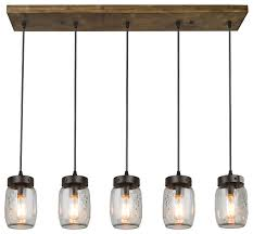 5 light glass mason jar island pendant lighting industrial kitchen island lighting by lnc lighting