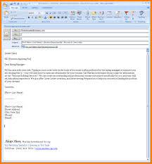 Cover Letter Sample To Send Resume Adriangatton Com