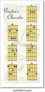 Guitar Chart Free Art Print Of Guitar Chords