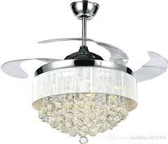 ceiling fan lamp modern chrome crystal led ceiling fans invisible blades ceiling fans modern