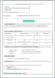 Resumes Formats Extraordinary Resume Format For Freshers Free Download Latest Combined With Sample