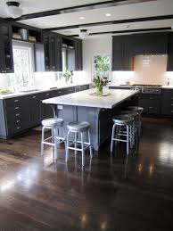 Kitchen With Dark Floors Terrific Kitchens With Dark Floors And Light Cabinets Pictures