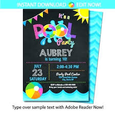 Free Pool Party Invitations Printable Girl Pool Party Invitations Sulg Pro