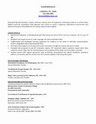 Sample Teacher Resume Fresh New Teacher Resume Examples Resume