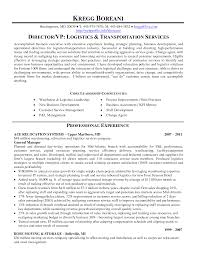 Collection Of Solutions Resume Transportation Operations Manager