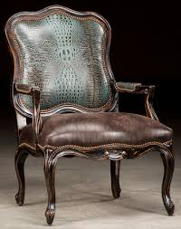 croc leather accent chair
