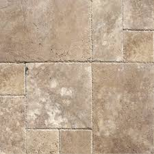 terranean walnut pattern honed unfilled chipped travertine floor and wall tile 5 kits 80 sq ft pallet