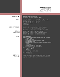sample artistic resume template resume sample information sample artistic resume template for software computer work experience