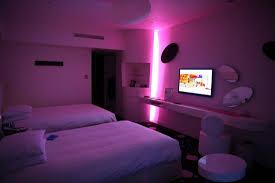 mood lighting for bedroom. hilton tokyo bay celebrio room with mood lighting for bedroom