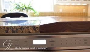 wood countertop beveled to granite countertop