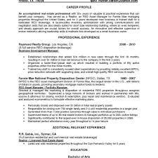 asset management resume samples