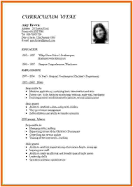 Cover Letter Curriculum Vitae Examples For Teachers 13 How To Make