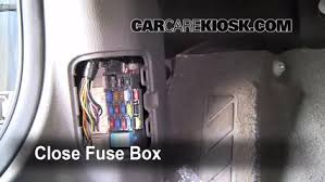 interior fuse box location 2003 2008 mazda 6 2004 mazda 6 s 3 0 5 test component secure the cover and test component 6