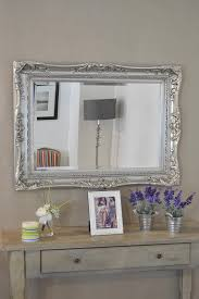 3ft2 X 2ft4 97x71cm Large Silver Ornate Antique Style Big Wall