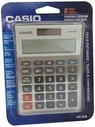 Standard Office Equipment List Casio Ms80b Standard Function Desktop Calculator Common Shopping