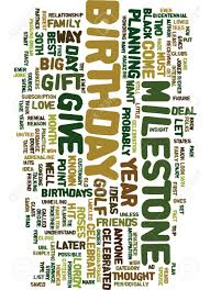 milestone birthday gift ideas text background word cloud concept stock vector 82792840