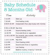 8 Month Old Feeding Chart Image Result For Food Chart For 8 Month Baby Baby Schedule
