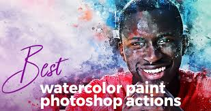 Photoshop Watercolor Filter Best Watercolor Paint Photoshop Effects Actions And Add