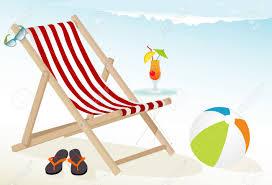 Flip Flop Chair Fun At The Beach Icons Tropical Cocktail Deck Chair Sunglasses