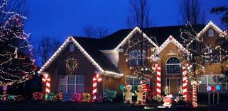 Candy Cane House Decorations Images Best holiday houses in the burbs Giant candy cane Giant 4